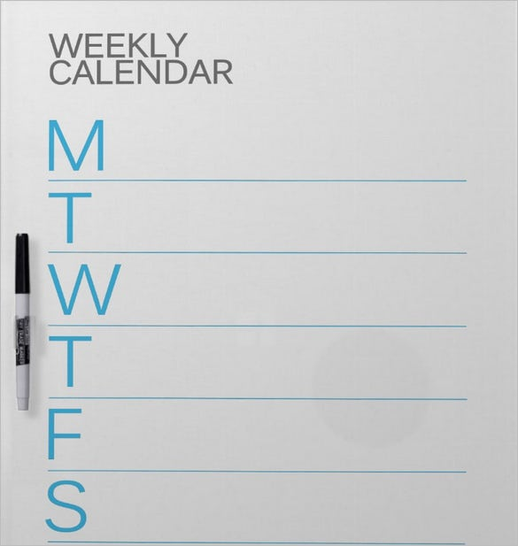 free download weekly calendar schedule template example