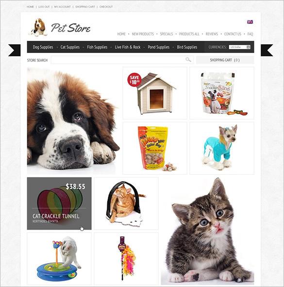 premium pets store zencart template