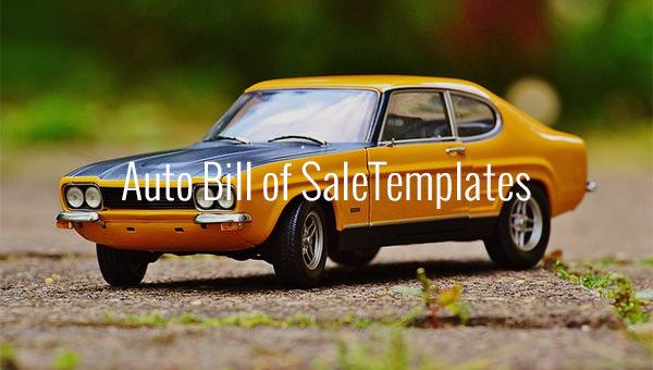 autobill of saletemplates