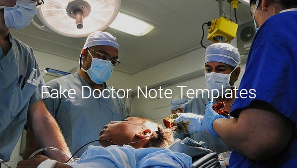 fake doctor note template