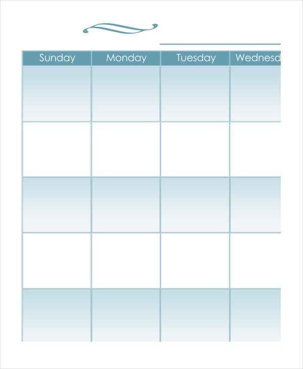Mom Monthly Calendar Template