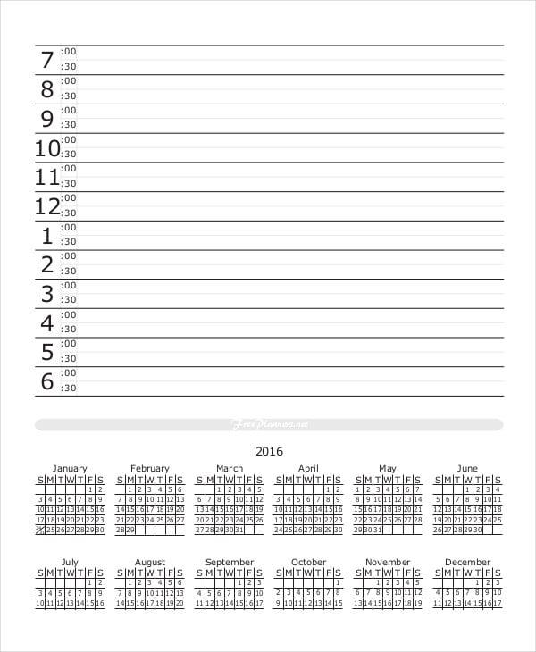 Monthly Calendar Planner