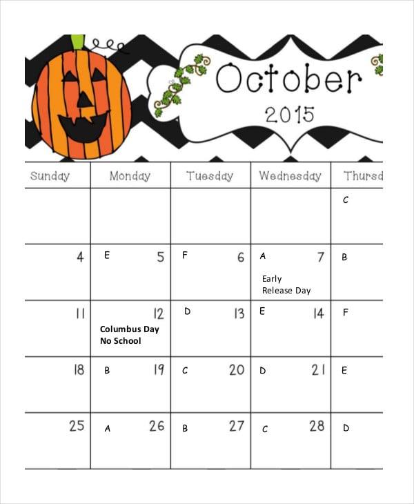 lorraine monthly calendar for kids
