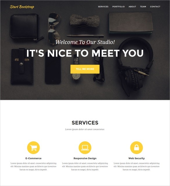 Responsive Agency PHP Template