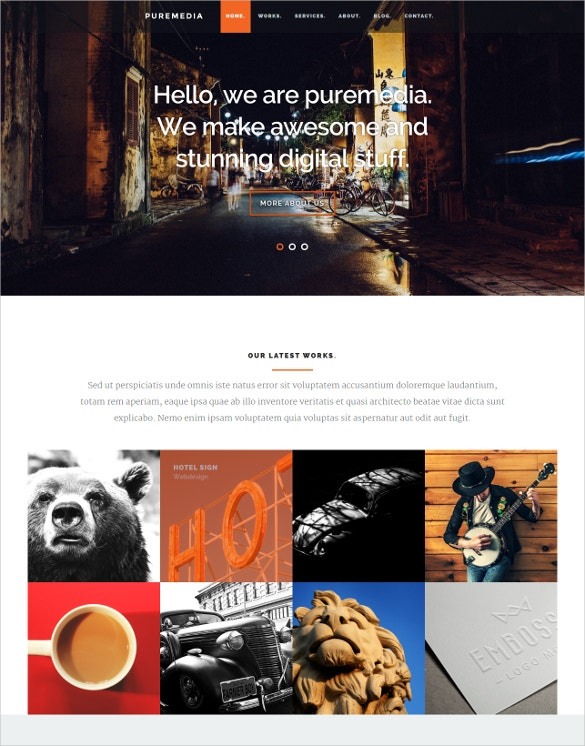 Responsive Puremedia PHP Free Website Template