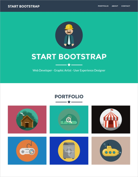 Responsive Freelancer BootStrap PHP Template