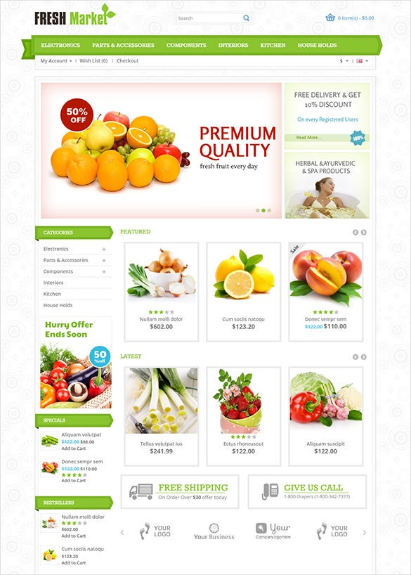 responsive agriculture opencart theme