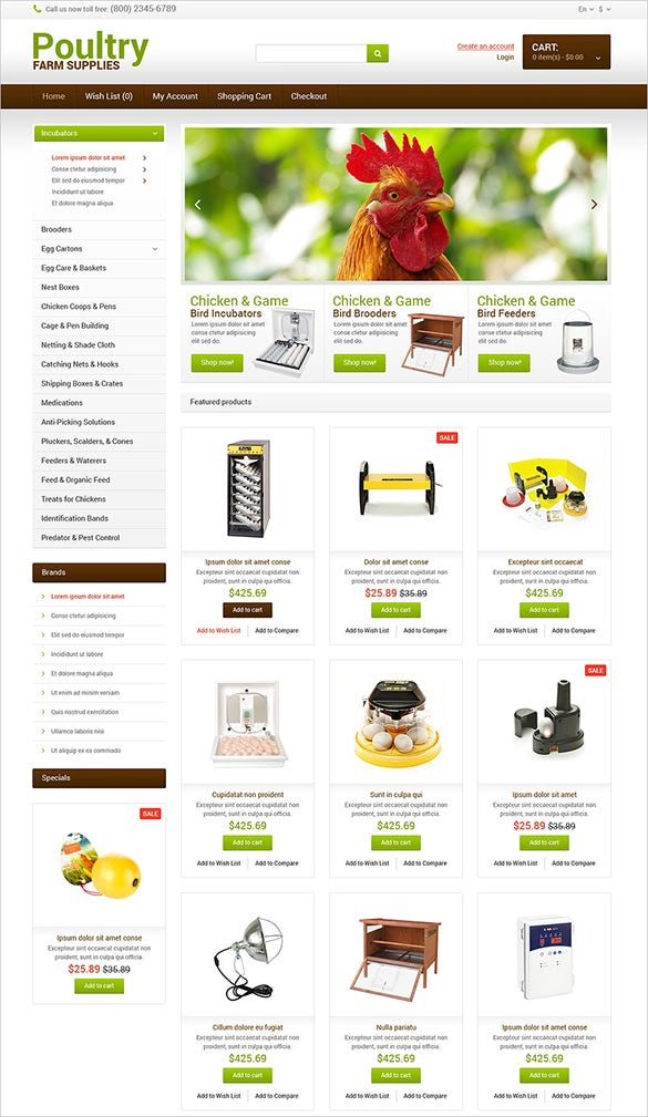 farm supplies agriculture opencart theme