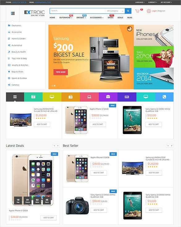 9 industrial opencart themes templates free premium for Opencart template builder