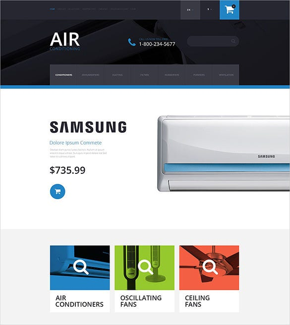 air conditioning maintenance opencart template