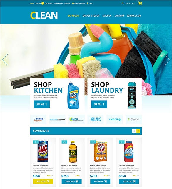 home cleaning maintenance opencart theme