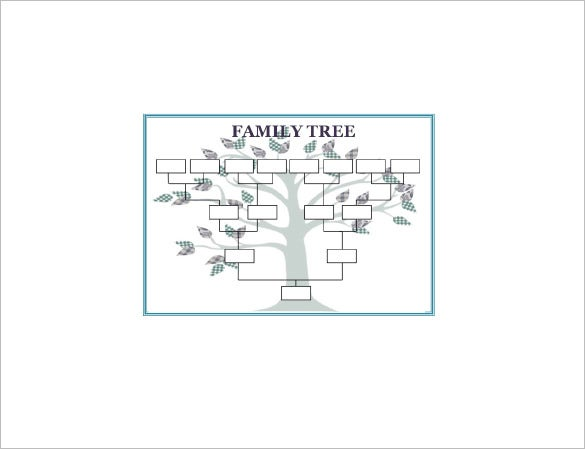 Large family tree template 11 free word excel format for Fill in the blank family tree template
