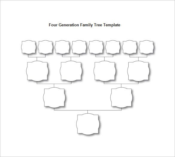 fourth generation family tree diagram free word download