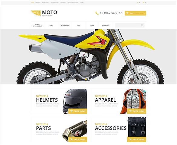 moto online bike store opencart theme