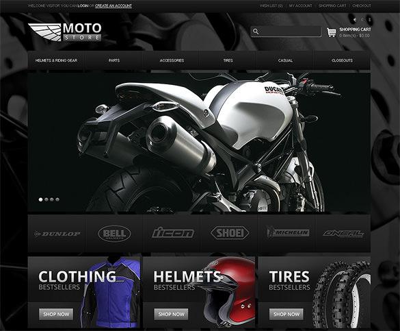 moto bike shop opencart theme