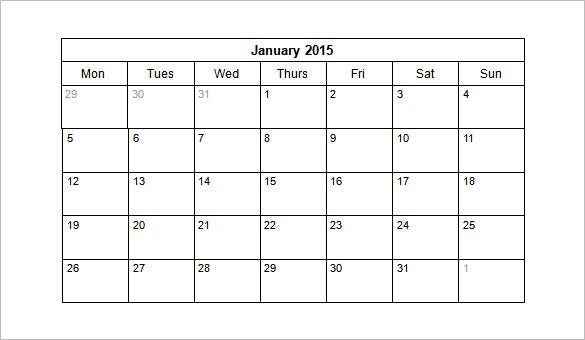 free 2015 monthly calendar schedule template ppt sample