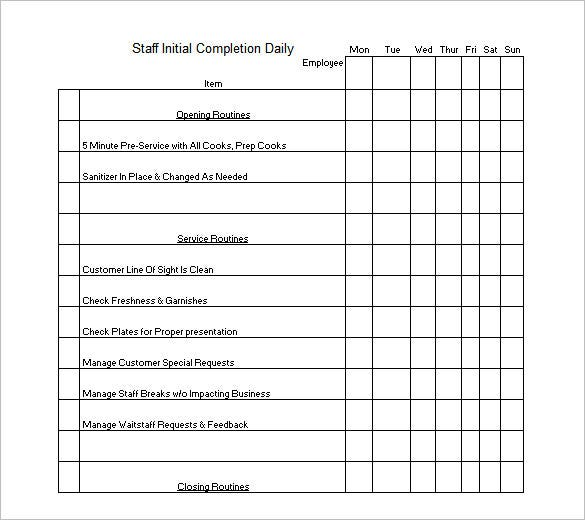 Cleaning Schedule Template   Free Sample Example Format