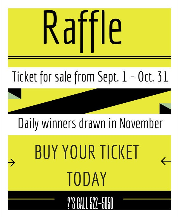 Printable Raffle Ticket Template   Free Word Excel Pdf