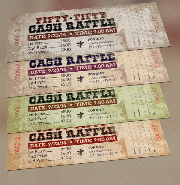 Western Style Raffle Ticket Template