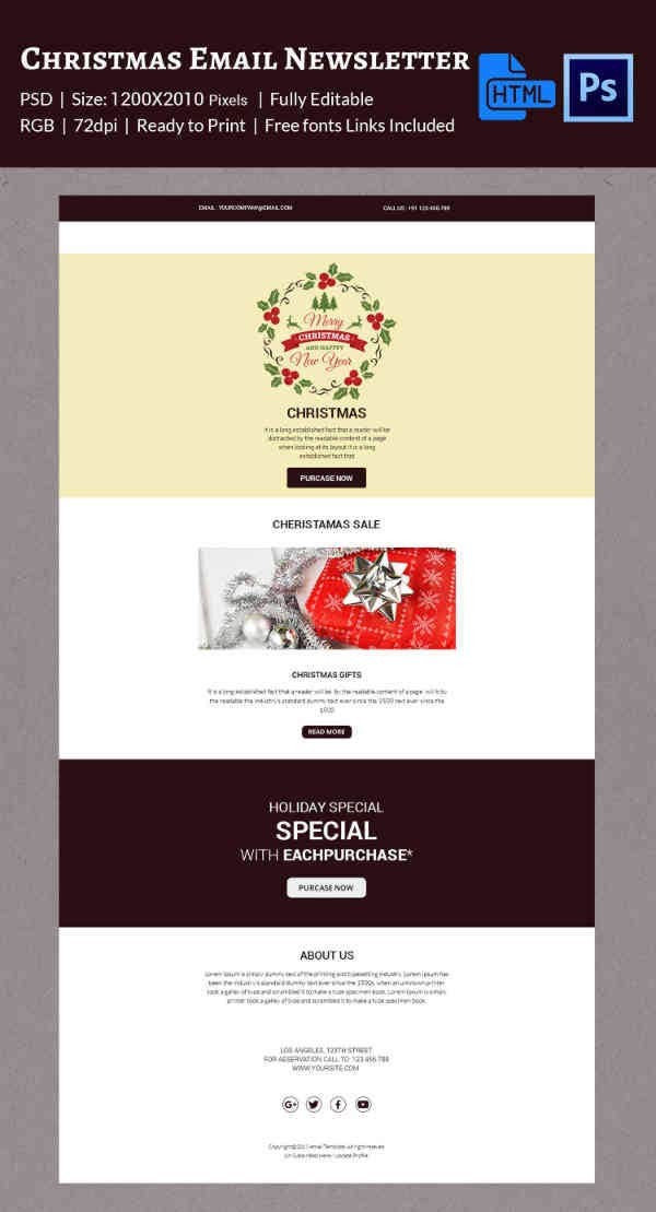 Christmas Holiday Special Newsletter Template