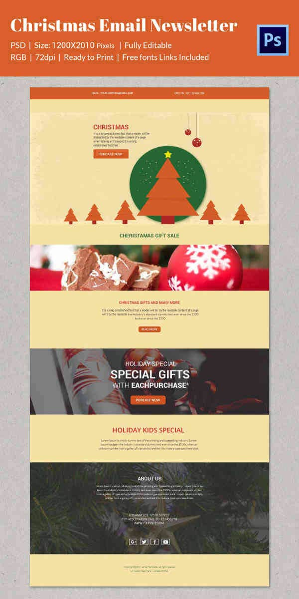 38  Christmas Email Newsletter Templates