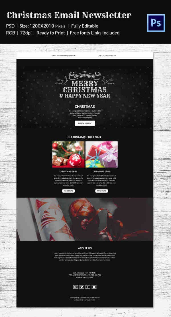 Christmas Special Email Newsletter Template