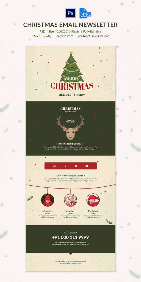 Adorable Christmas Email Newsletter Template