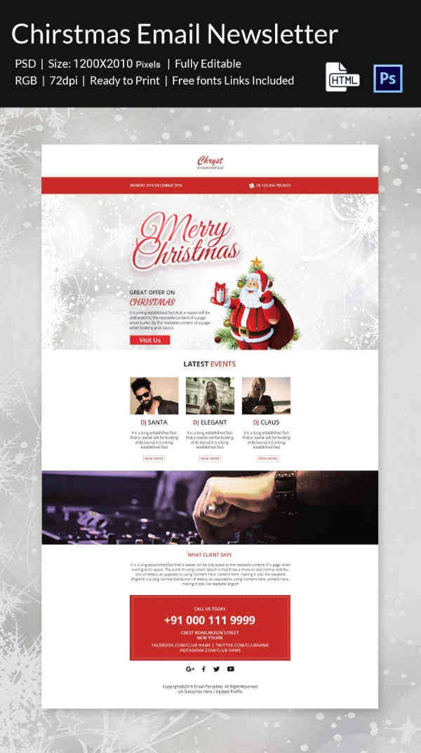 Special Christmas Party Newsletter Template