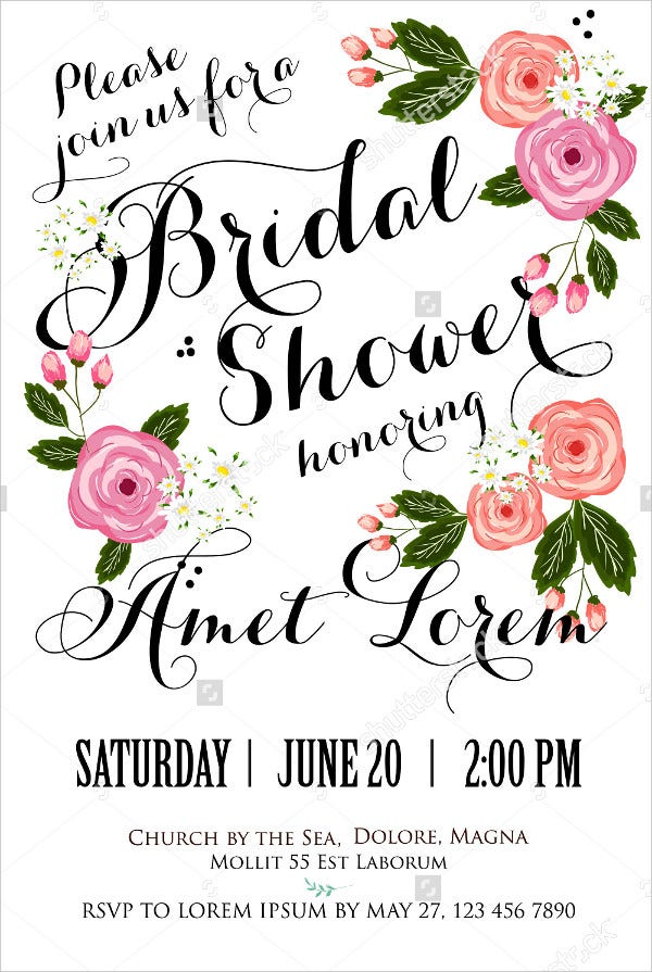 18+ Bridal Shower Invitations - Free Psd, Vector Eps Png Format