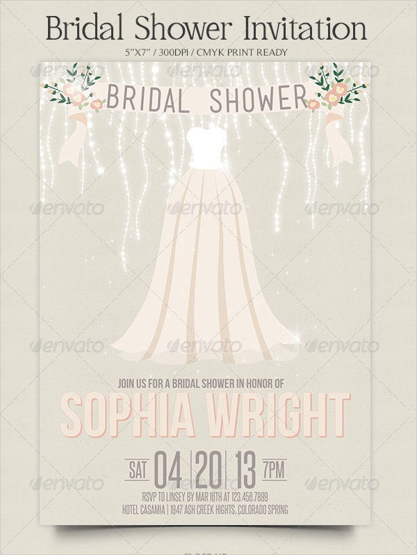 romantic bridal shower invitation