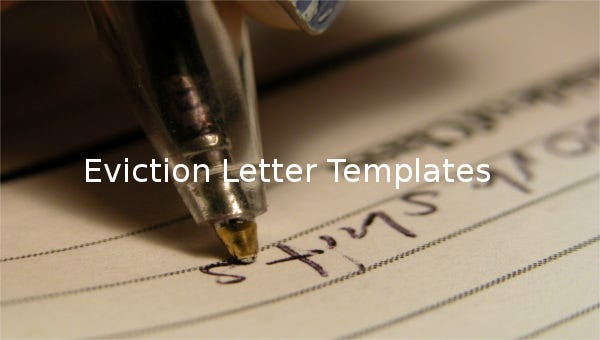 eviction letter templates