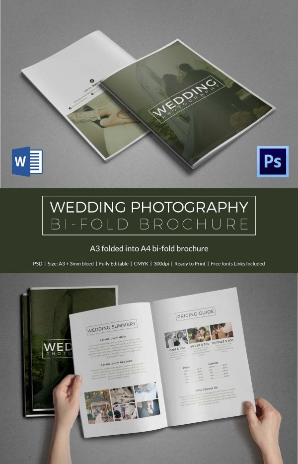 31 psd wedding templates free psd format download for Wedding photography brochure template