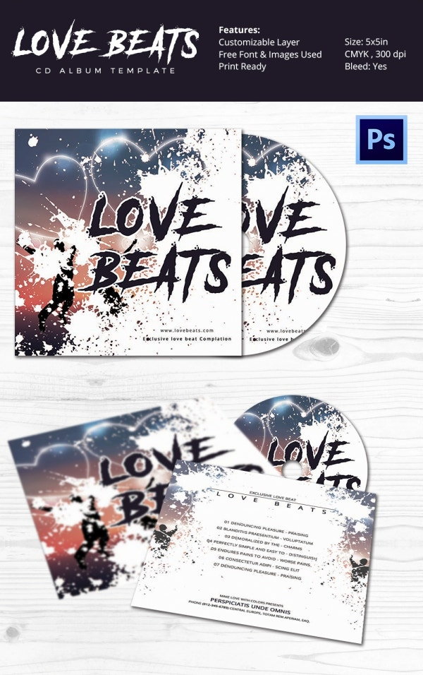 Love Low CD Cover PSD Template Download