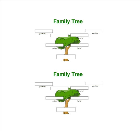 Three Generation Family Tree Template   Free Word Excel Pdf