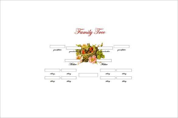 Generation Family Tree Template   Free Sample Example Format
