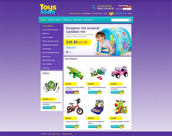 toys for all ages oscommerce template