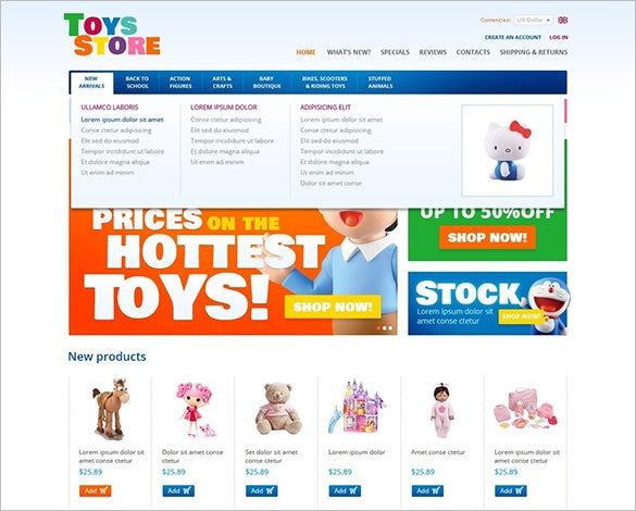 toys for fun and education oscommerce template