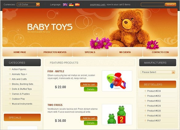 toy store oscommerce template for you