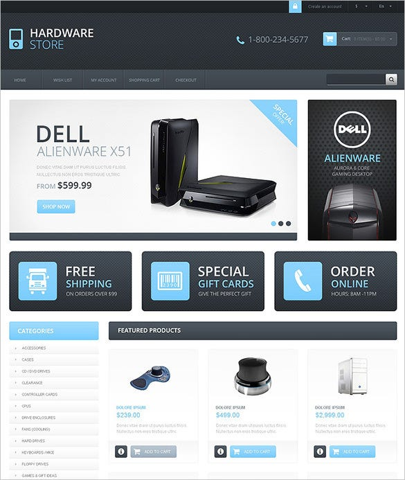 responsive computer store opencart theme