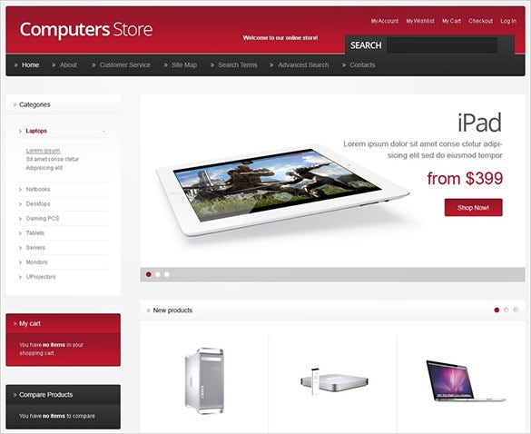 computer store opencart theme