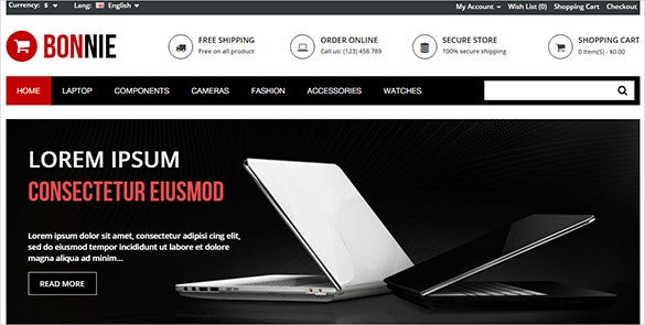 multi computer store opencart template