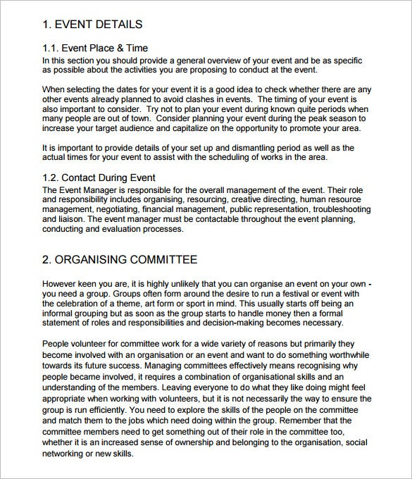 event management schedule plan checklist and guide pdf example