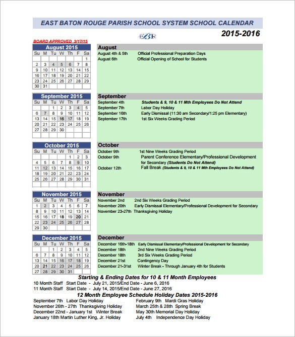sample calendar of events schedule template pdf download