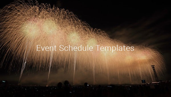 event schedule templates