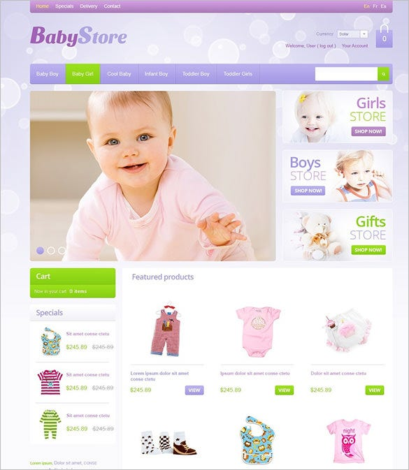 baby store oscommerce template for you