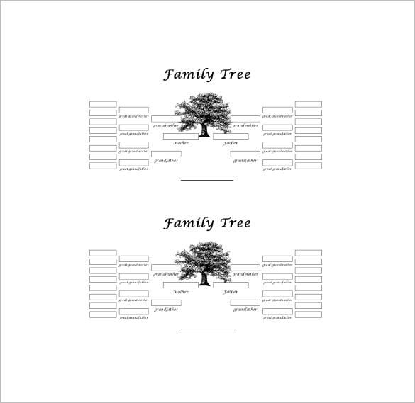 8 Blank Family Tree Samples Sample Templates Dinocrofo