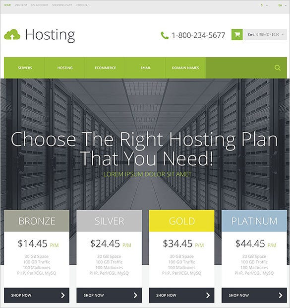 superb hosting opencart template