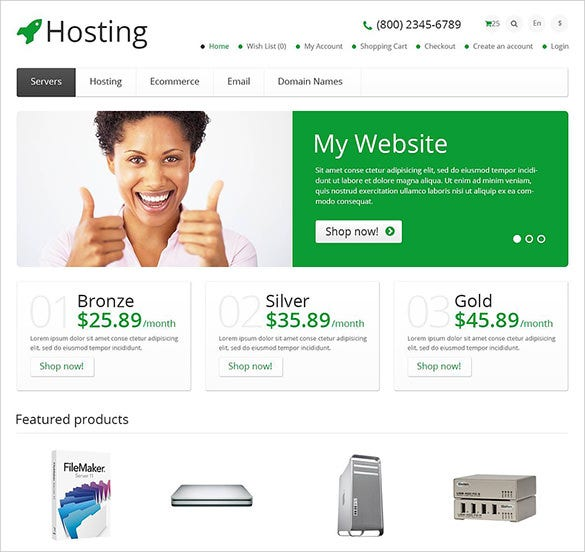 lavish hosting opencart theme