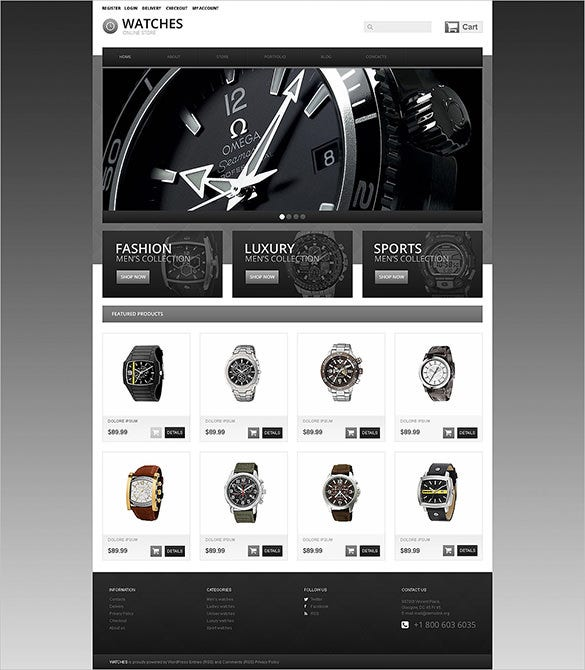 watches oscommerce template for you