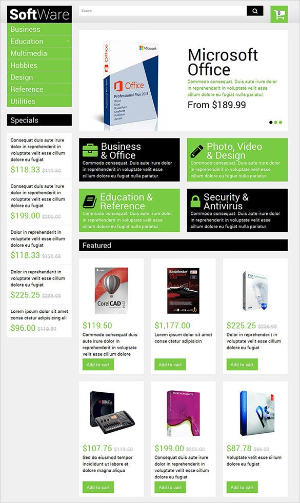 perfect software opencart theme